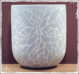 Slip inlay cone 6.Porcelain.