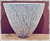 Slip inlay cone 6 porcelain.