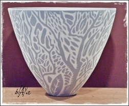 Slip inlay cone 6 porcelain.