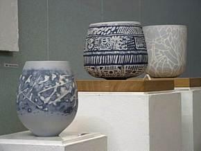 Slip inlay pieces on exhibition.