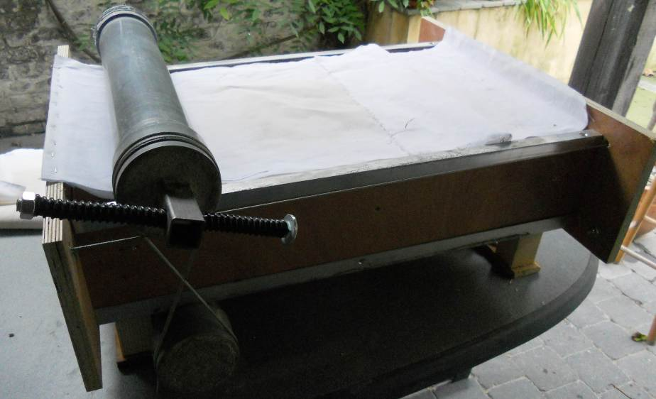 A homemade slabroller