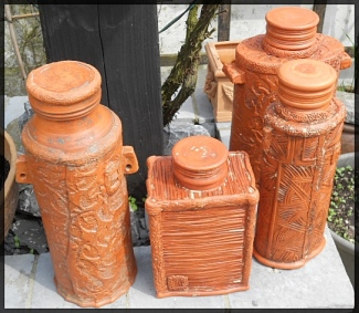 Group of bottle shapes before sagar fire.