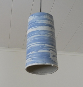 Lamp shade, porcelain. daylight.