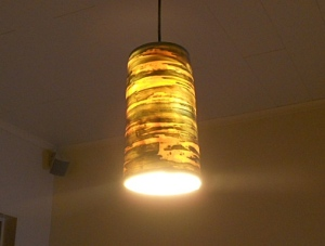 This is the warm glow they give off just with a low wattage energy saving lamp.
