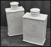 Koi fish ceramic bottles. cone 6.