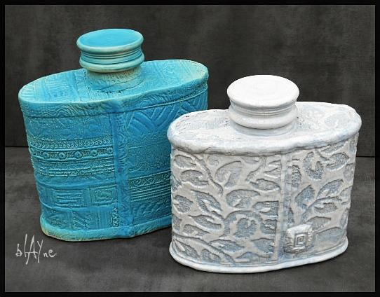 Ceramic bottles cone 6 glazes.