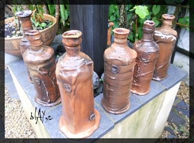Terra tests done on ceramic bottles.