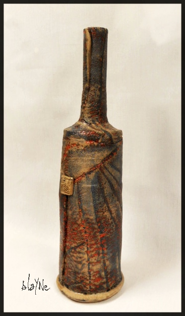 Ceramic bottle. 1060 c. 41cm.