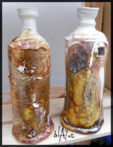 ceramic bottles.