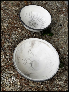 Raku bowls from our raku day.