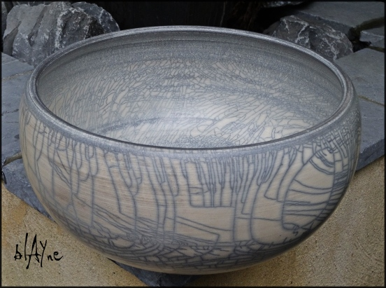 A terra raku pot. Getting there.