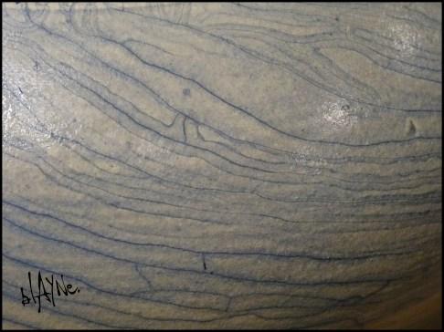 Crackle terra sigillata and sulphates.