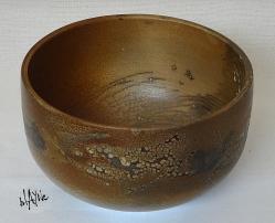 Ceramic bowl. Terra Sigillata and crawl glaze, smoke fire.