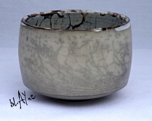 Ceramic tea bowl.