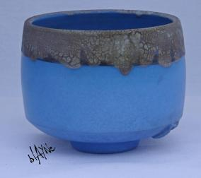 Blue Terra Sigillata Tea bowl.