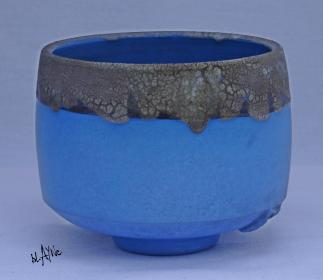 Blue Terra and crawl glaze.