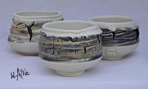 Ceramic tea bowls