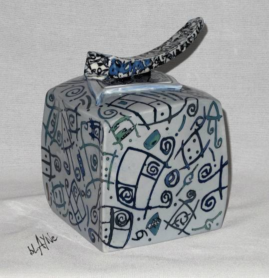 Porcelain slip inlay.