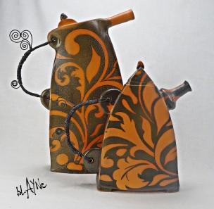 Ceramic Tea Pot Shape.