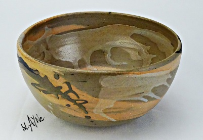 Stone ware and colour pigments. Wood fire.