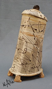 ceramic urn.